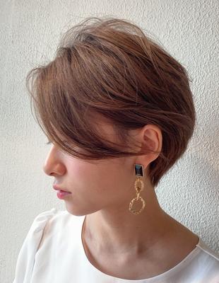 大人の耳掛けショートヘア(KI-014)