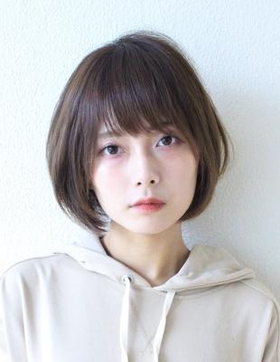 大人かわいい小顔ひし形ショートボブ(KI-037)