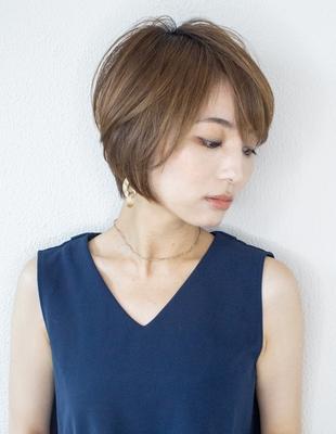 大人可愛い ひし形小顔ショートレイヤー(KI-039)