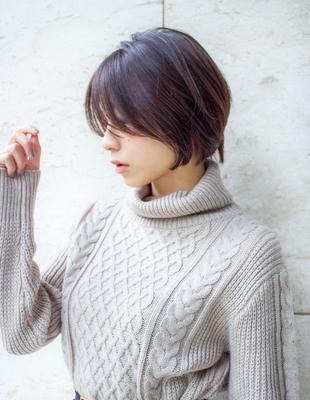 前髪長め 男顔 ハンサムショート(KI-043)