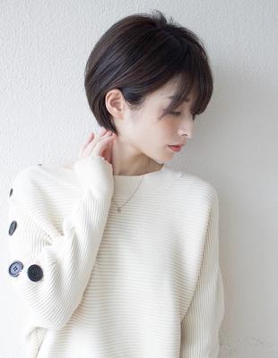 丸顔に似合う可愛い髪型 ショートボブ(KI-049)