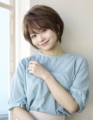 可愛い髪型 ショート 丸顔(KI-053)