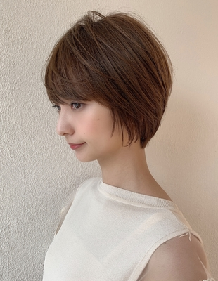 可愛い髪型 小顔 丸みショート(KI-057)
