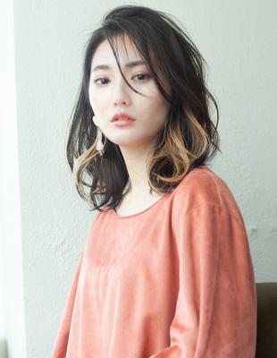 ミディアム インナーカラー 可愛い髪型 (KI-067)