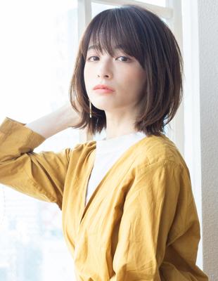 可愛い髪型 ミックスボブ ミディアム (KI-067)