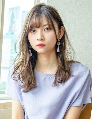 セミロング レイヤー 可愛い髪型(KI-069)