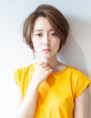 ひし形ショート ショートボブ 可愛い髪型(KI-070)
