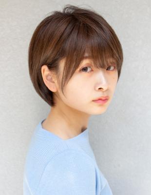 丸顔でも似合う ショート ショートボブ 可愛い髪型(KI-085)