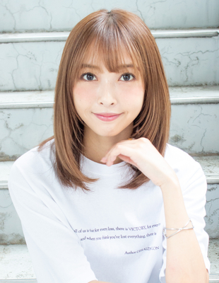 ミディアム レイヤー ストレート 可愛い髪型(KI-088)