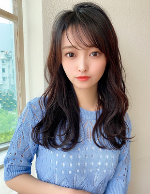 ロング 巻き髪 可愛い髪型(KI-095)