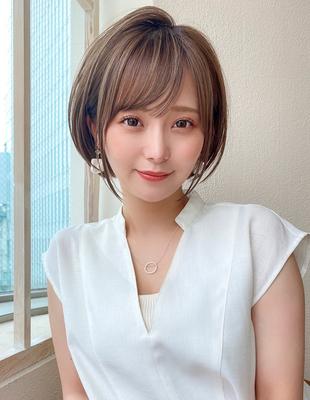 ショート ショートボブ  可愛い髪型 ひし形(KI-096)