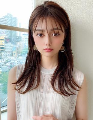 大人可愛い 耳かけ ロング 可愛い髪型(KI-098)