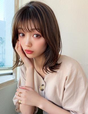 ミディアム  耳かけ 可愛い髪型(KO-099)
