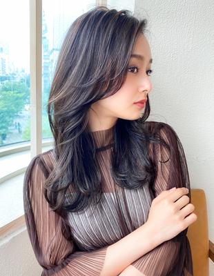 20代30代大人可愛い センターパート 髪質改善 韓国風(KI-105)