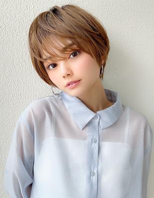 20代30代大人可愛いひし形ショートボブ 髪質改善(KI-106)