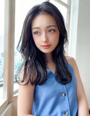 20代30代大人可愛い センターパート 髪質改善 韓国風 小顔(KI-108)
