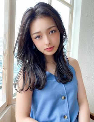 20代30代大人可愛い センターパート 髪質改善 小顔(KI-108)