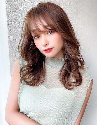 20代30代大人可愛い 無造作カール シアーベージュ 髪質改善(KI-110)