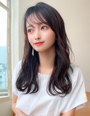 大人可愛い シースルー前髪 Aライン レイヤーカット 韓国風(KI-129)