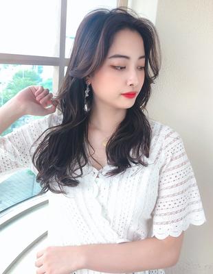 韓国ヘアで人気の長め前髪(MM-3)