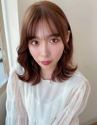ヨシンモリ 20代人気 韓国ヘア表参道 顔まわり エギョモリ 後れ毛(MM-15)