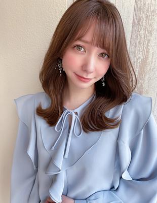 韓国ヘア 表参道 20代トレンド 人気な髪型 セミディ (MM-16)