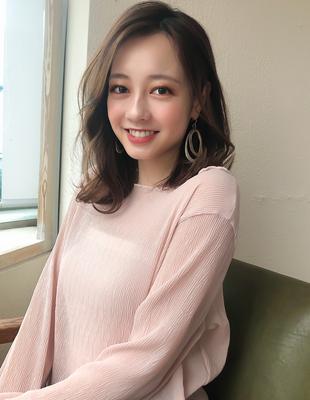 韓国ヘア アイドルバング 色気ミディ 20代髪型 オルチャン (MM-18)