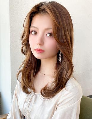 韓国ヘア ヨシンモリ 長め前髪 面長 エギョモリ 顔まわり 後れ毛 20代髪型(MM-20)