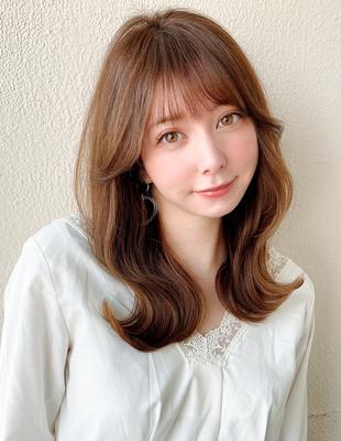 20代韓国ヘアヨシンモリ顔まわりエギョモリ後れ毛表参道ロング(MM-22)