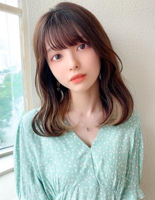 韓国くびれミディ/ヨシンモリ/エギョモリ/オルチャンヘア/20代人気(MM-24)