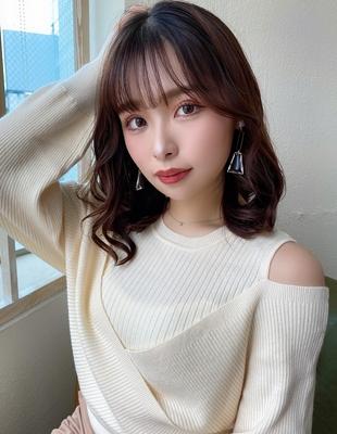 韓国ミディ/くびれヘア/韓国レイヤー/20代表参道(MM-34)