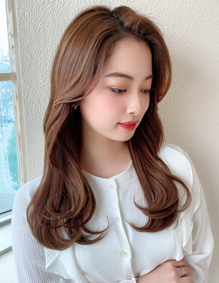 長め前髪で韓国アイドルに2wayにもできるかきあげバングヨシンモリ(MM-41)