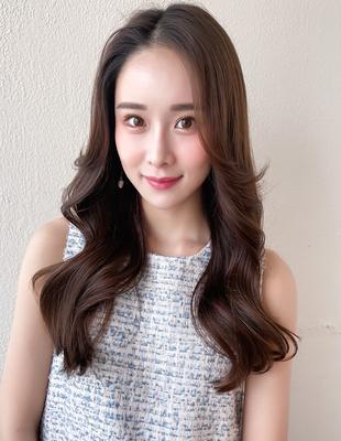 韓国ヘア/ヨシンモリ/ヌナモリ/前髪なし/長め前髪/顔まわりエギョモリ/大人ヘア(MM-56)