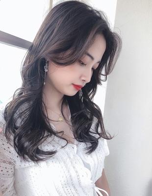 韓国ヘア/かきあげバング/前髪なし/ヨシンモリ/大人ヘア/長め前髪(MM-60)