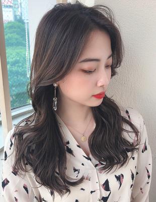 長め前髪/顔まわりレイヤー/ヨシンモリ/エギョモリ/韓国ヘア(MM-70)