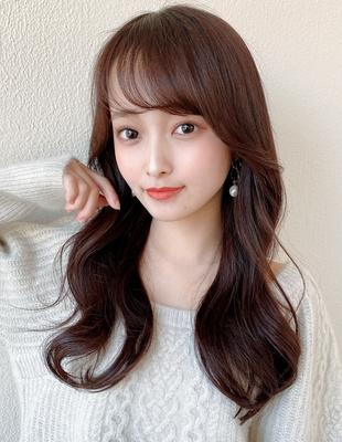 韓国ヘア/まとまり/シースルーバング/モテ髪(HE-14)