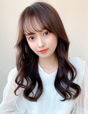 小顔/韓国ヘア/顔まわり/シースルーバング(HE-15)