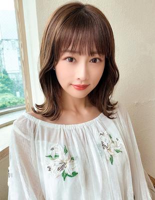 モテ髪 ミディアム外ハネスタイル(HE-16)