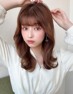 くびれヘア/韓国スタイル/ヨシンモリ/ミディアム(HE-23)