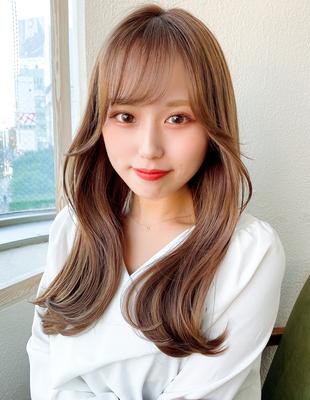 前髪 前髪パーマ セミロング 後れ毛(ch-18)