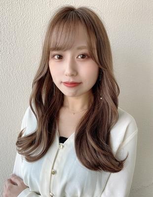 前髪 前髪パーマ セミロング 後れ毛(ch-19)