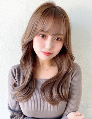 前髪 前髪パーマ セミロング 後れ毛(ch-20)