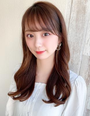 前髪/前髪パーマ/セミロング/後れ毛/簡単ヘア/似合わせカット/小顔/大人かわいい(ch-30)