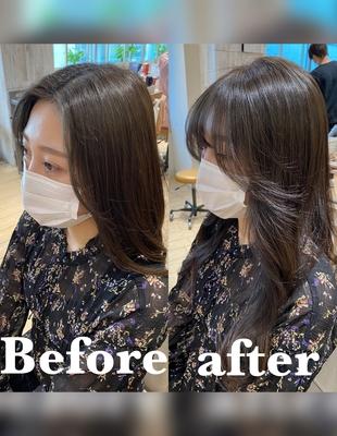 前髪/前髪パーマ/セミロング/後れ毛/エギョモリ/(ch-33)