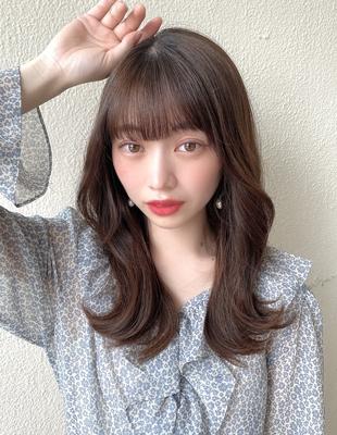 前髪/前髪パーマ/セミロング/後れ毛/簡単ヘア/似合わせカット/ミディアム/くびれ(ch-43)