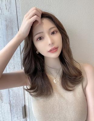 前髪/前髪パーマ/セミロング/後れ毛/簡単ヘア/似合わせカット/ミディアム/くびれ(ch-46)