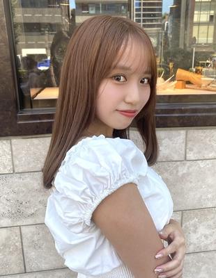 前髪/前髪パーマ/セミロング/後れ毛/簡単ヘア/似合わせカット/ミディアム/くびれ(ch-57)