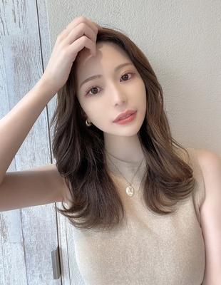 前髪/前髪パーマ/セミロング/後れ毛/簡単ヘア/似合わせカット/ミディアム/くびれ(ch-59)
