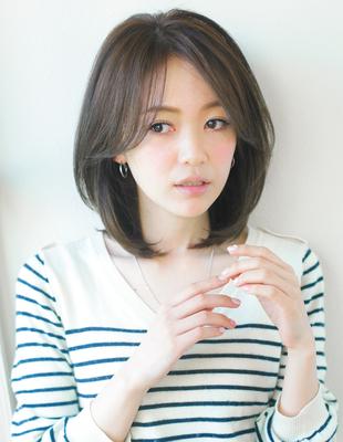前髪長めひし形ミディアムヘア(YR-316)