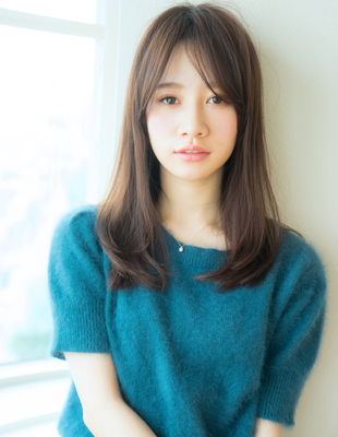 透け感のある長めの前髪 (HR-240)